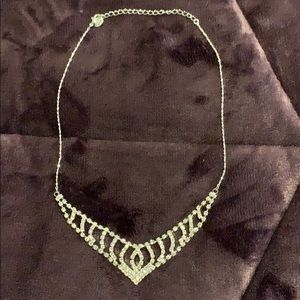 Silver V-Shaped Claire's Necklace